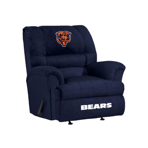 Chicago Bears Big & Tall Microfiber Recliner