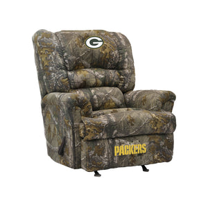 Green Bay Packers Big & Tall Camo Recliner - living-essentials