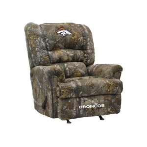 Denver Broncos Big & Tall Camo Recliner