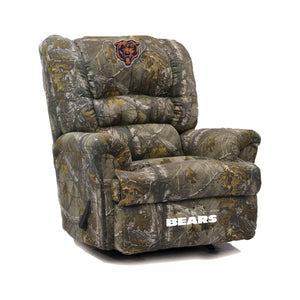 Chicago Bears Big & Tall Camo Recliner