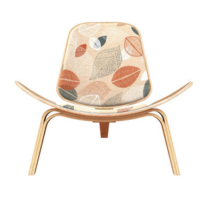 Wegner Style Falling Leaves Shell Chair Black Chairs Free Shipping