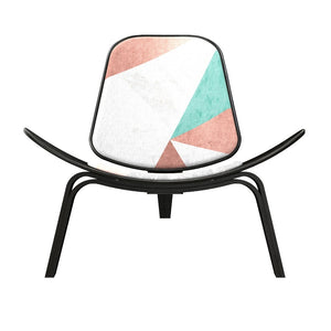 Wegner Style Angles Of Deco Shell Chair Black Chairs Free Shipping