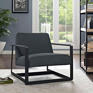 Sabrina Gray Fabric Reception Armchair Chairs Free Shipping