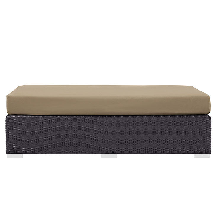 Berkeley Outdoor Patio Fabric Rectangle Ottoman - living-essentials