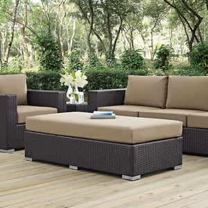 Berkeley Outdoor Patio Fabric Rectangle Ottoman Chairs Free Shipping
