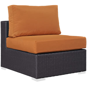 Berkeley Outdoor Patio Chair Espresso Orange Chairs Free Shipping