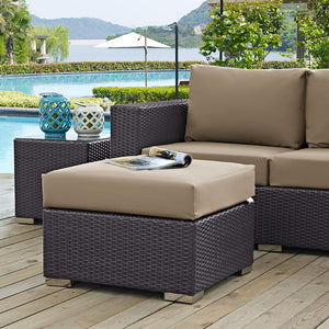 Berkeley Outdoor Patio Fabric Ottoman - living-essentials