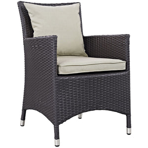 Berkeley Dining Outdoor Patio Arm Chair Espresso Beige Chairs Free Shipping