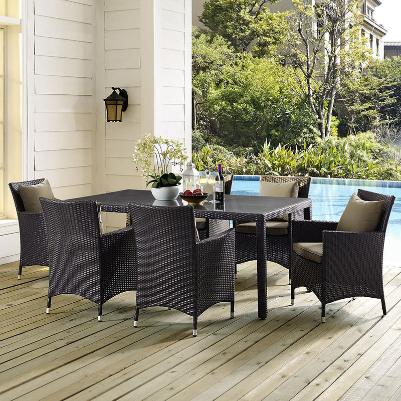 "Berkeley 70"" Espresso Outdoor Patio Dining Table - living-essentials"