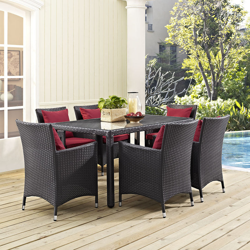 "Berkeley 59"" Espresso Outdoor Patio Dining Table - living-essentials"