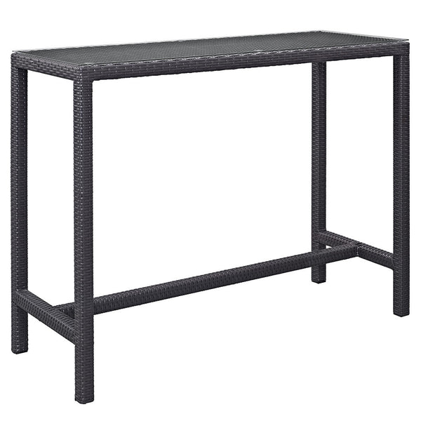 Berkeley Espresso Large Outdoor Patio Bar Table - living-essentials
