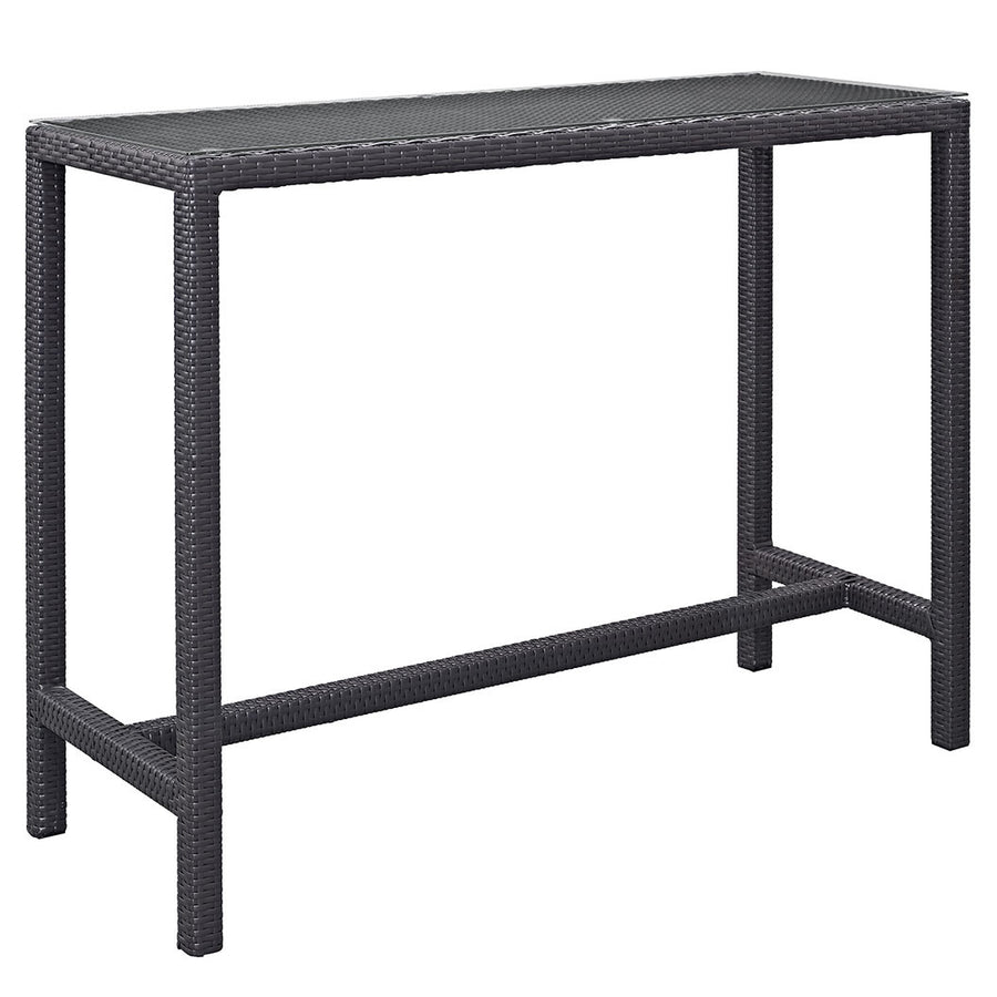 Berkeley Espresso Large Outdoor Patio Bar Table
