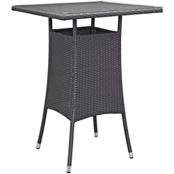 Berkeley Small Espresso Outdoor Patio Bar Table - living-essentials