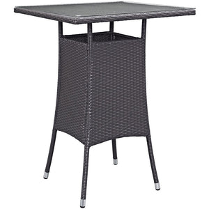 Berkeley Small Espresso Outdoor Patio Bar Table Free Shipping