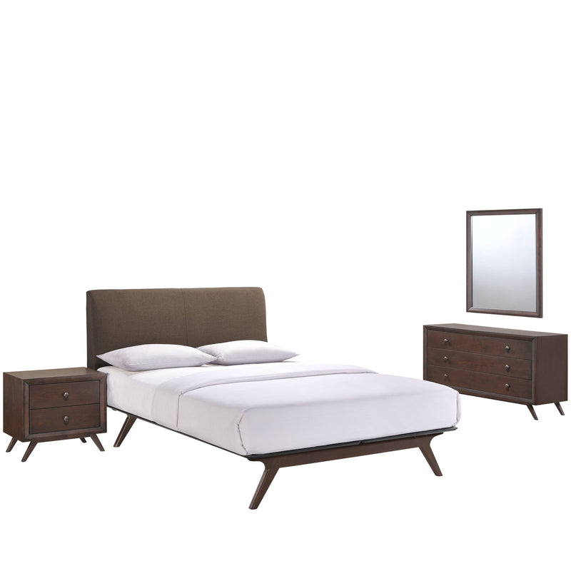 Truman Mid Century 4 Piece Queen Bedroom Set - living-essentials