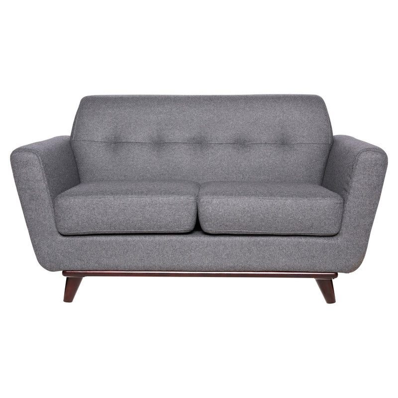 Luca Light Grey Wool Loveseat - living-essentials