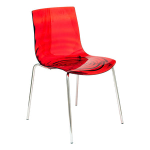 Asha Red Water-Drop Dining Chair - living-essentials