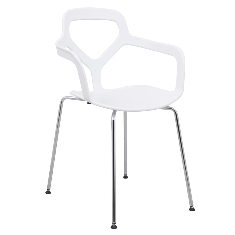 Carmelo White Armchair - living-essentials