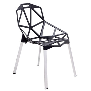 Daphne Black Indoor/Outdoor Dining Chair