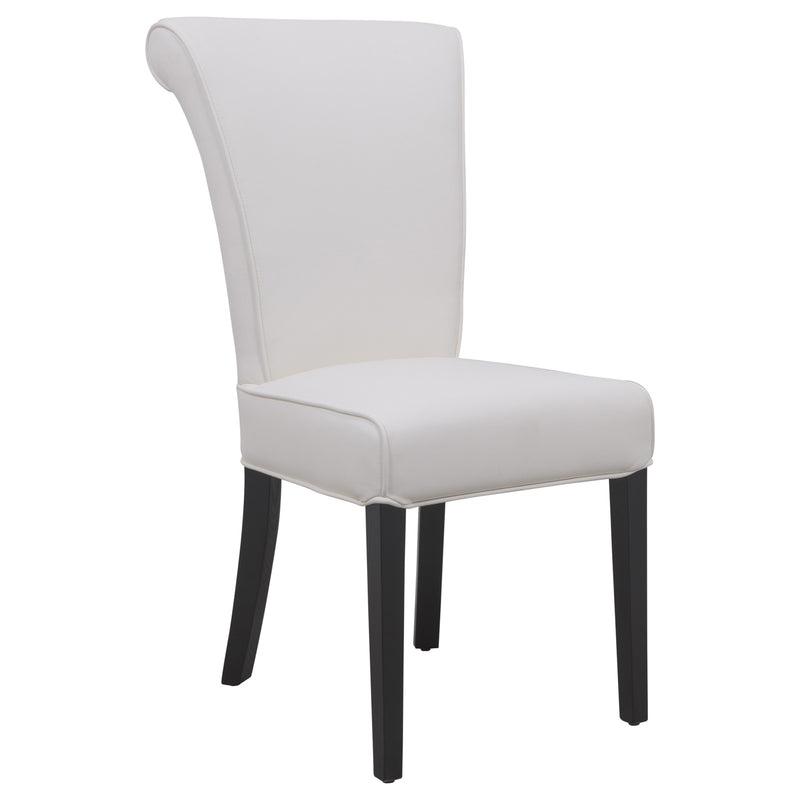Edith White Vinyl Leather Dining Chair - living-essentials
