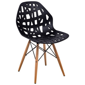 Akira Black Chair with Dowel Legs - living-essentials