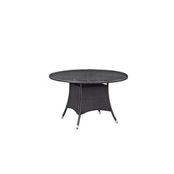 "Berkeley Espresso 47"" Round Patio Dining Table - living-essentials"