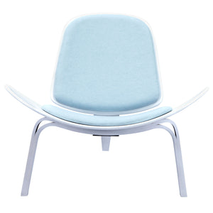 Wegner Style Shell Chair Glacier Blue / White Chairs Free Shipping