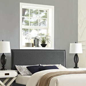 Chameleon King Fabric Headboard Gray Headboards Free Shipping
