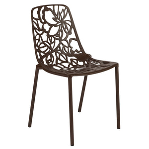 Desire Brown Aluminum Side Chair