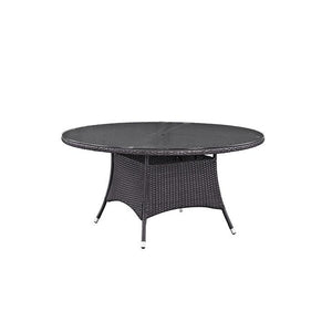 Berkeley Espresso 59 Round Patio Dining Table Outdoor Free Shipping