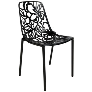 Desire Black Aluminum Side Chair