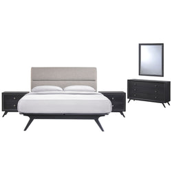 Barbara Mid Century 5 Piece Queen Bedroom Set - living-essentials