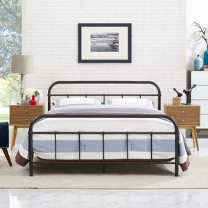 Mace Queen Stainless Steel Bed Frame Brown Frames Free Shipping
