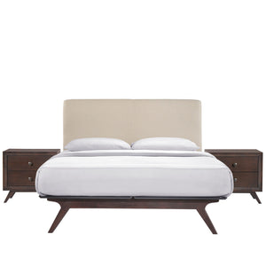 Truman Mid Century 3 Piece Queen Bedroom Set - living-essentials