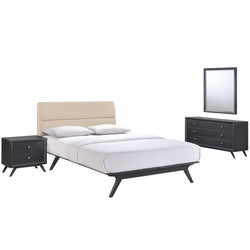 Barbara Mid Century 4 Piece Queen Bedroom Set - living-essentials
