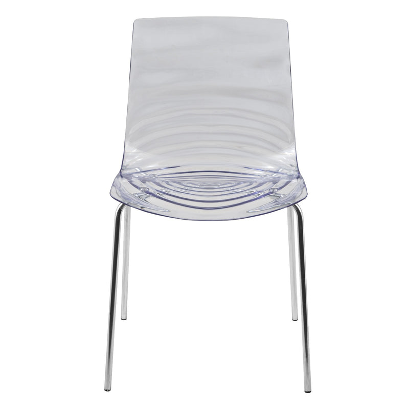 Asha Clear Water-Drop Dining Chair - living-essentials