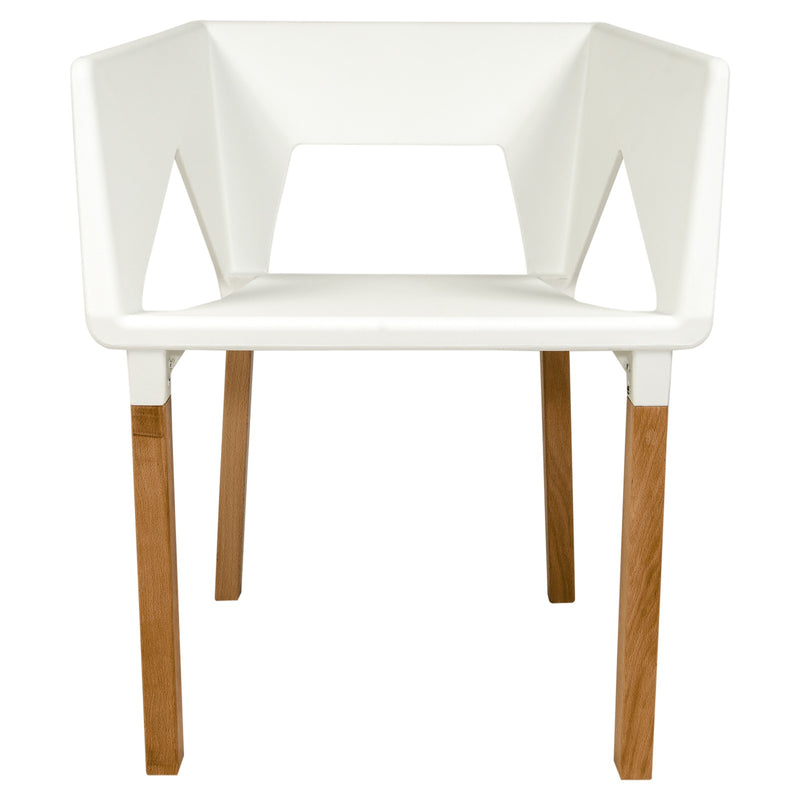 Elwood White Accent Chair - living-essentials
