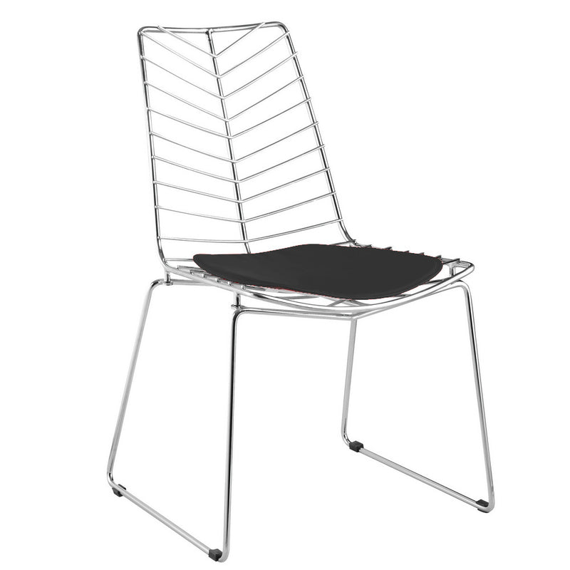 Bertoia Style Wire Leaf Wendover Dining Chair - living-essentials