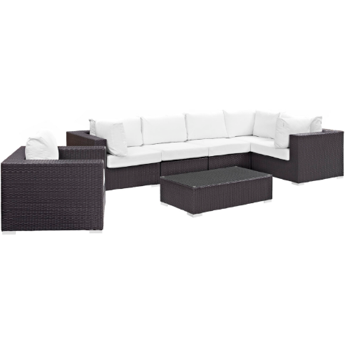 Corinthian 7 Piece Outdoor Patio Sectional Set -living-essentials