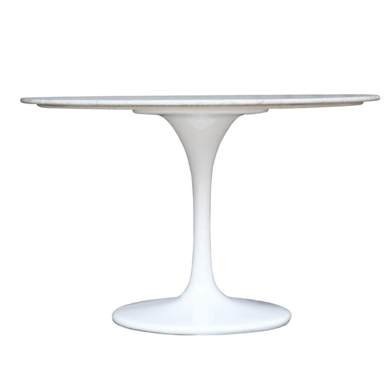 Tulip Style Solid Marble Round Dining Table - living-essentials