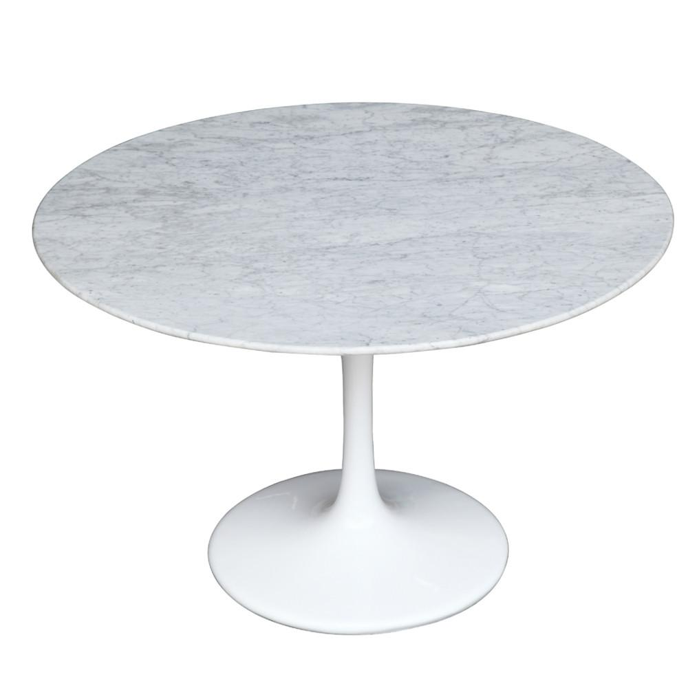 MidCentury Modern Dining Tables EMFURN - White and walnut dining table