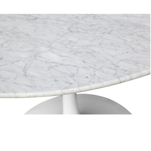 Tulip Style Solid Marble Round Dining Table Free Shipping