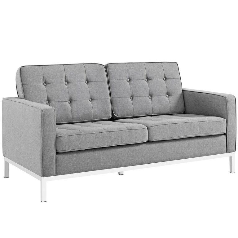 Florence Knoll Style Fabric Loveseat - living-essentials