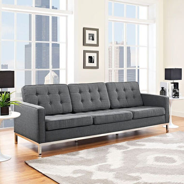mad men furniture. Florence Knoll Style Fabric Sofa Gray Free Shipping Mad Men Furniture