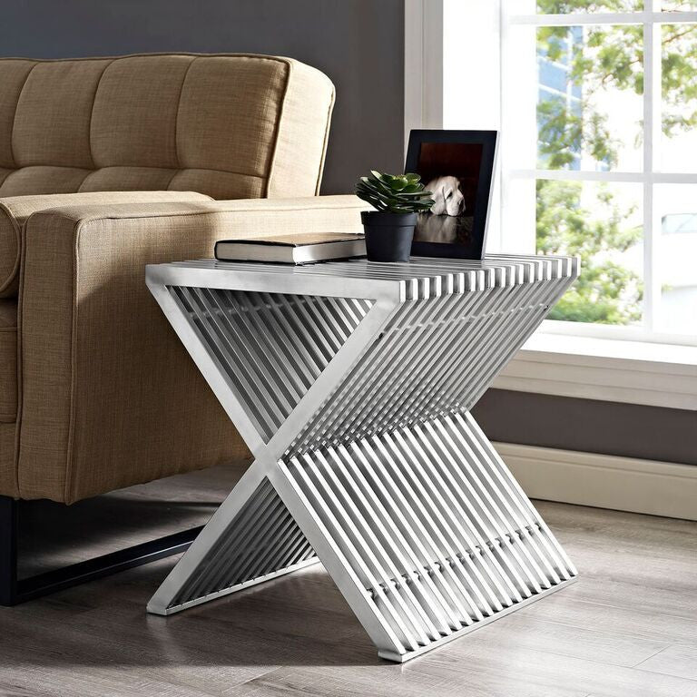 Press Stainless Steel Side Table - living-essentials