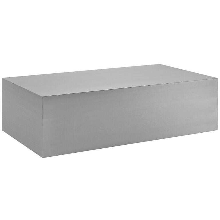 Superb  Cast Stainless Steel Coffee Table EMFURN