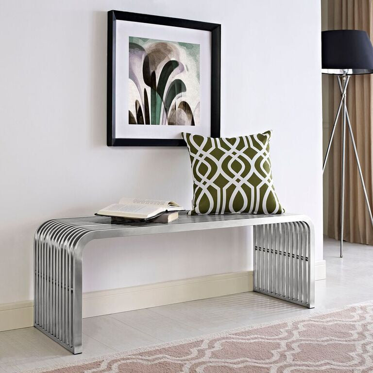 Rail Stainless Steel Bench - living-essentials