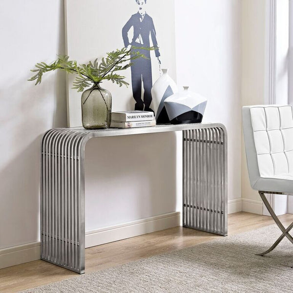 Rail Stainless Steel Console Table - living-essentials