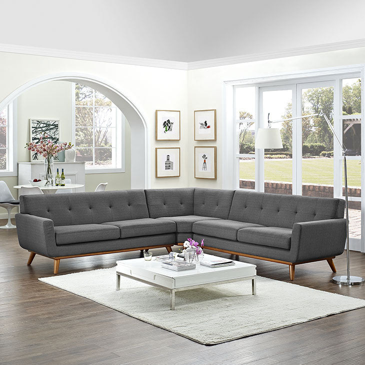 Queen Mary L-Shaped Sectional Sofa - EMFURN