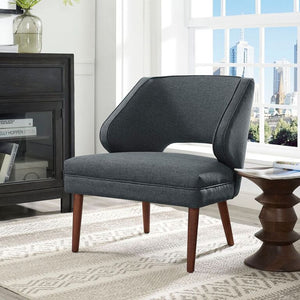 Harbor Mid Century Fabric Armchair Gray Chairs Free Shipping
